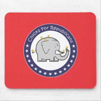 chicks for republicans mousepad