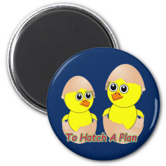 Chicks In Love To Hatch A Plan Magnet