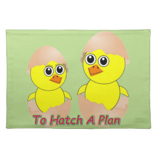 Chicks In Love To Hatch A Plan Placemat