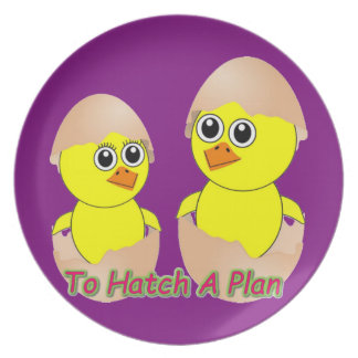 Chicks In Love To Hatch A Plan Plate