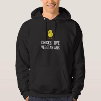 Chicks Love Vegetarians Hoodie