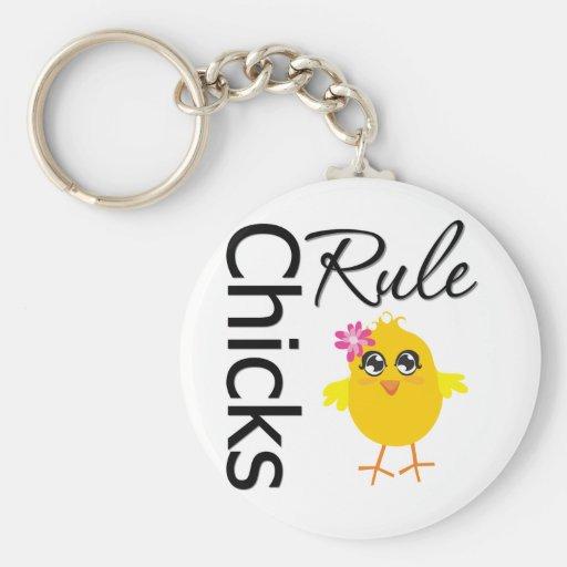 Chicks Rule 1 Key Chain