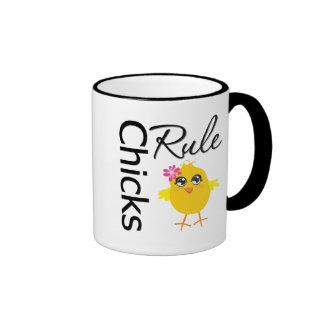 Chicks Rule 1 Coffee Mugs