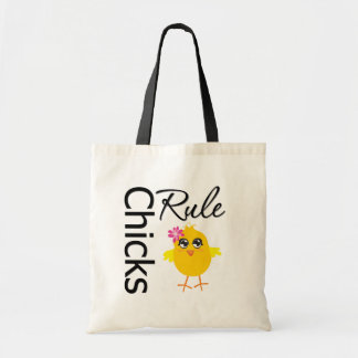 Chicks Rule 1 Budget Tote Bag