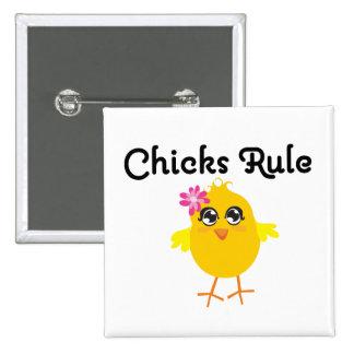 Chicks Rule Pinback Button