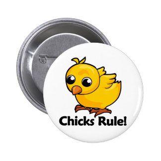 Chicks Rule Pinback Buttons