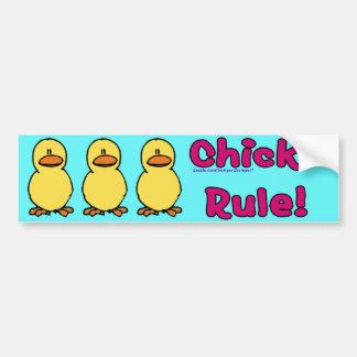 Chicks Rule Bumper Sticker