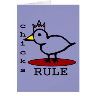 Chicks Rule Greeting Card