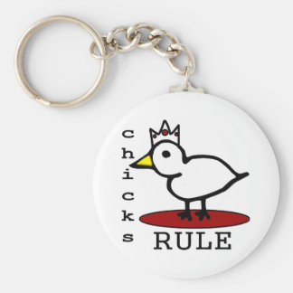 Chicks Rule Keychains