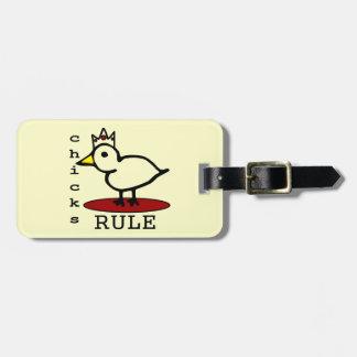 Chicks Rule Bag Tags