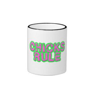 Chicks Rule Coffee Mugs