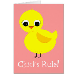 Chicks Rule Note Card