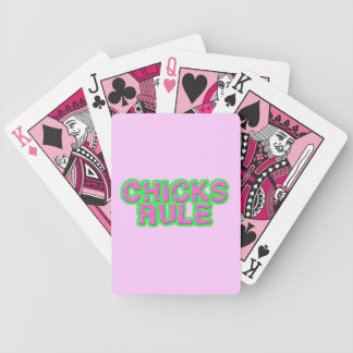 Chicks Rule Poker Cards