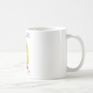 Chicks Rule Portrait Transparent Coffee Mugs