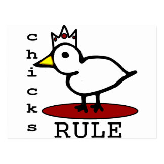 Chicks Rule Postcard