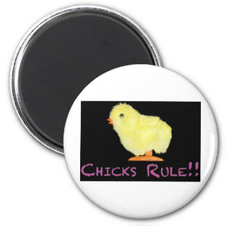 Chicks Rule Side Fridge Magnets