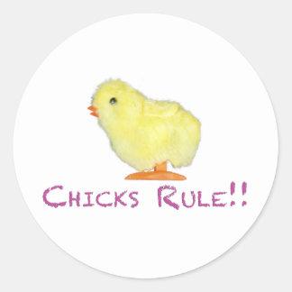Chicks Rule Side Transparent Sticker