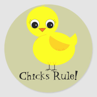 Chicks Rule! Stickers