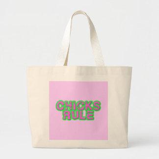 Chicks Rule Jumbo Tote Bag