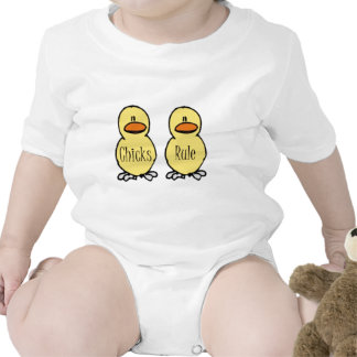 Chicks Rule Baby Creeper