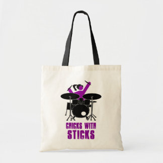 Chicks with Sticks Budget Tote Bag