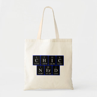 ChicNerd periodic table phrase tote bag