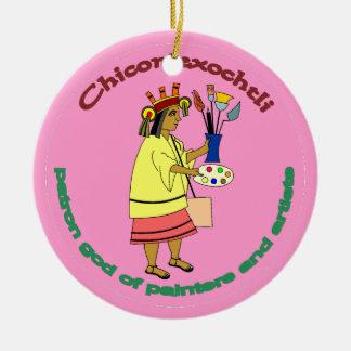 Chicomexochtli - painter's patron god ornaments