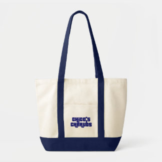 """Chico's Cherubs Blue Logo """"Boat Tote"""" Impulse Tote Bag"""