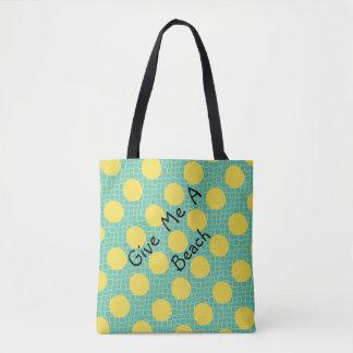 ChicYellow Dots Aqua bag for beach or shopping