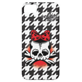 Chidori Check Dokuro-Chan Black Case For The iPhone 5