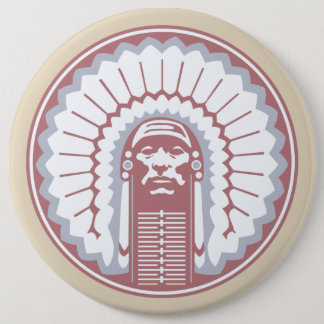CHIEF 6 CM ROUND BADGE