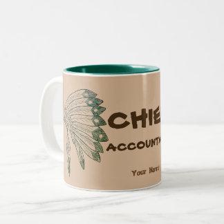 """CHIEF ACCOUNTANT"" Two-Tone COFFEE MUG"
