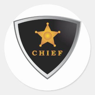 Chief badge round sticker