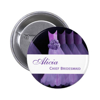 CHIEF BRIDESMAID Pin Button Bridesmaids Gowns