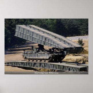 Chief bridge layer British Army Print