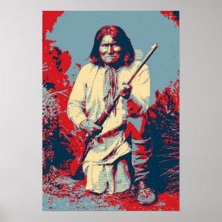 Chief Geronimo Pop Art Poster