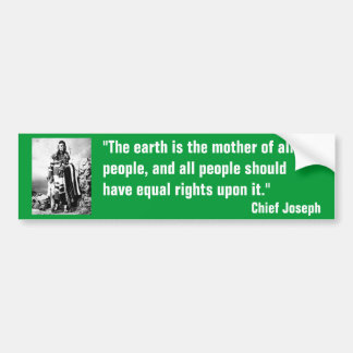 Chief Joseph Bumper Sticker