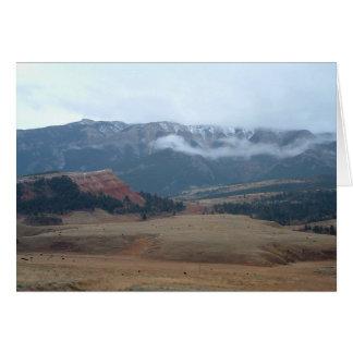 Chief Joseph Byway near Cody Wyoming card