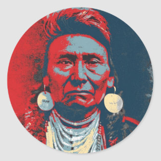 Chief Joseph Classic Round Sticker