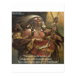 Chief Joseph & Nature Quote Gifts Tees & Cards
