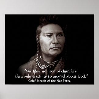 Chief Joseph, The Nez Perce American Indian Wisdom Poster