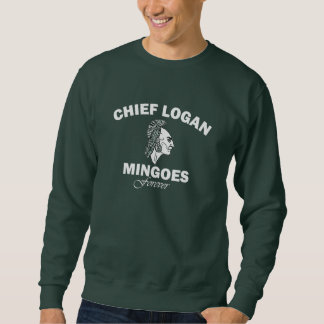 Chief Logan High School sweatshirt white lettering