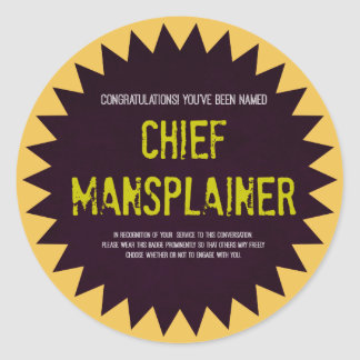 Chief Mansplainer Sticker Badge