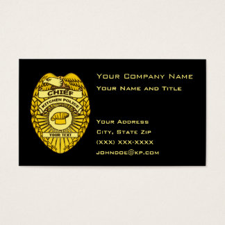 Chief Of Kitchen Police Badge Business Card