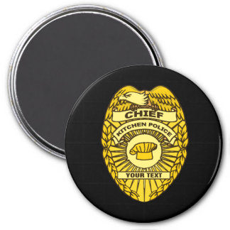 Chief Of Kitchen Police Badge Magnet