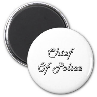 Chief Of Police Classic Job Design 2 Inch Round Magnet