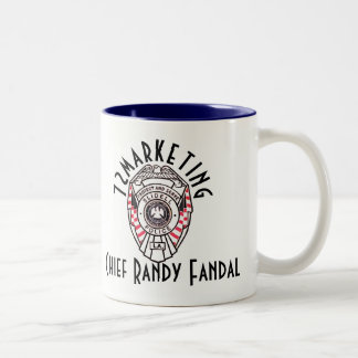 Chief Randy Fandal 72marketing two tone coffee CUP