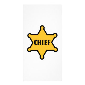 Chief sheriff star personalised photo card