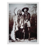 Chief Sitting Bull (1831-90) on tour with Buffalo Posters