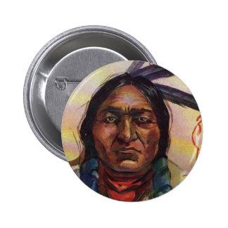 Chief Sitting Bull 6 Cm Round Badge